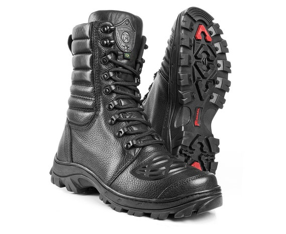 MENS POLICE MILITARY ARMY TACTICAL COMBAT STEEL TOE CAP SAFETY WORK BOOTS SHOES