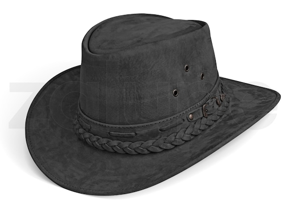 Mens Cowboy Hat Western Genuine Leather Hats Texas Hat  aee67e530e0