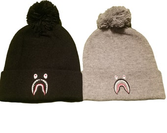 New BAPE Shark Mouth Logo Beanie Hat 2cfa7101a58f