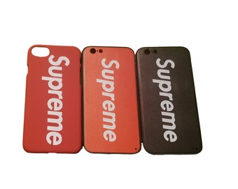 1c8e83f34a51 Supreme iPhone Case Cover Black Red Light Red iPhone 6