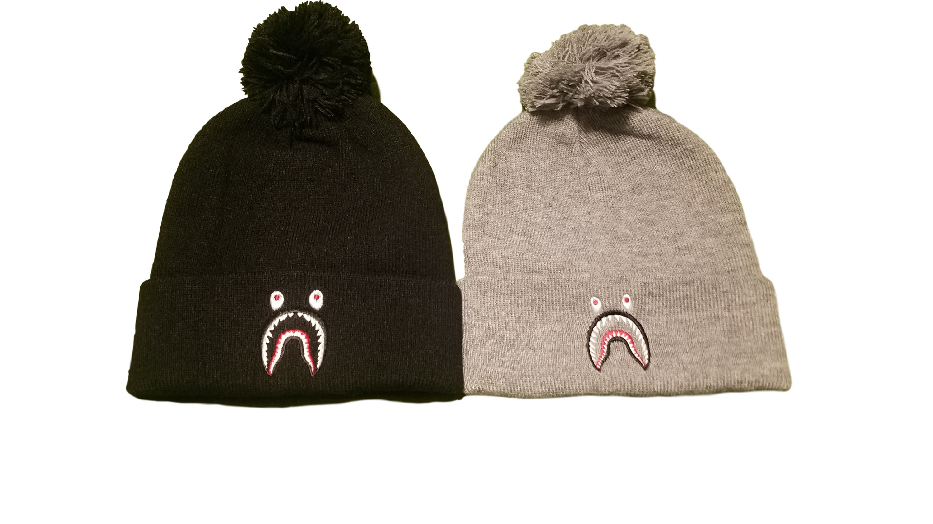 New BAPE Shark Mouth Logo Beanie Hat  813b68e70af