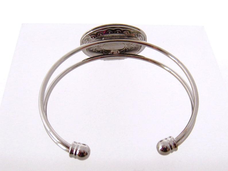 Cameo Locket Bracelet Bangle Bracelet Mother Child Bracelet Cameo Jewelry Gift for Mom Gunmetal Cameo Bracelet Personalized Bracelet