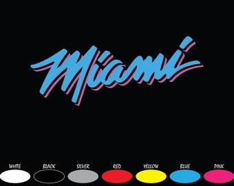"Univ of Miami Hurricanes /""The U/"" vinyl digital cut car decal sticker 5 CHOICES"