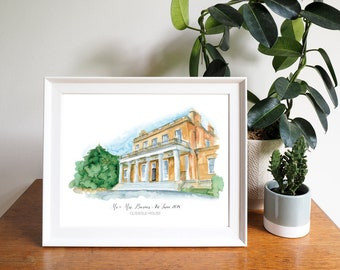 Clissold House Wedding Venue Personalised Framed Print
