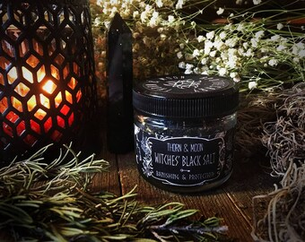Witches All-Natural Black Salt - Banishing & Protection