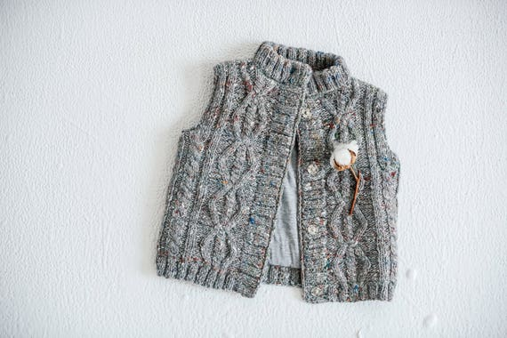 f2f30dce0 SALE Waistcoat Grey merino wool and alpaca vest Knitted baby