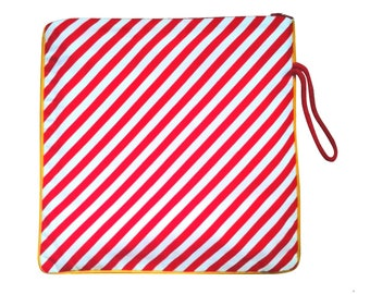 Red and white striped cotton Kit