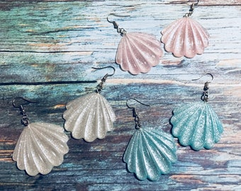 Little Mermaid Inspired Sea Shells Earrings