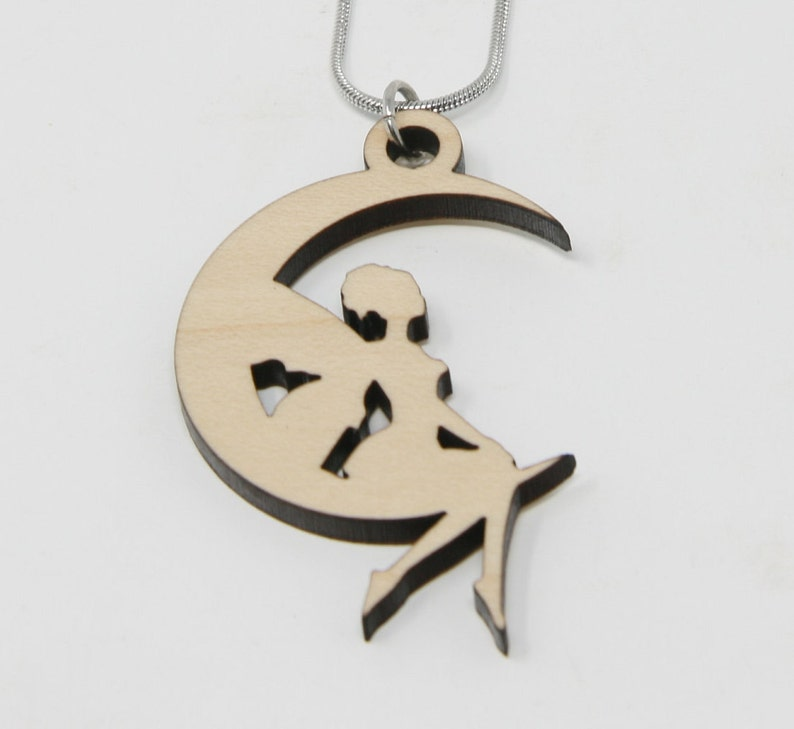 Fairy on Moon Jewelry Set