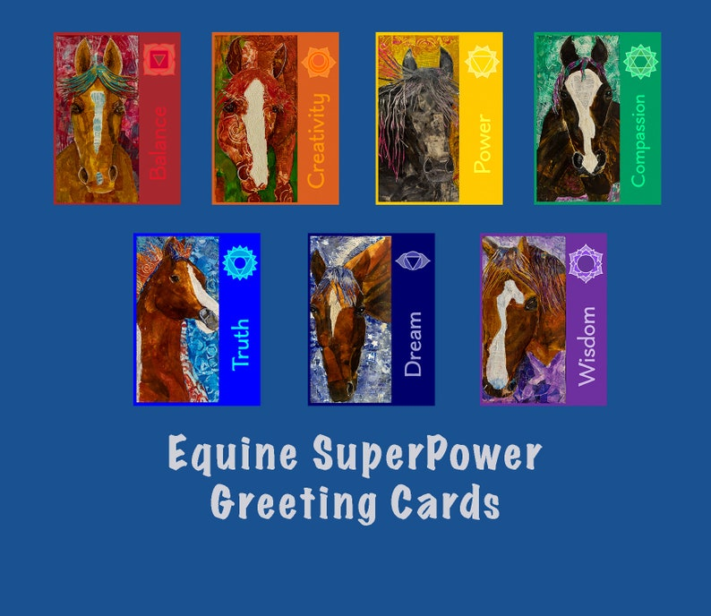 Equine Greeting Cards-Horse Cards-Equine Art Cards-Equine image 0