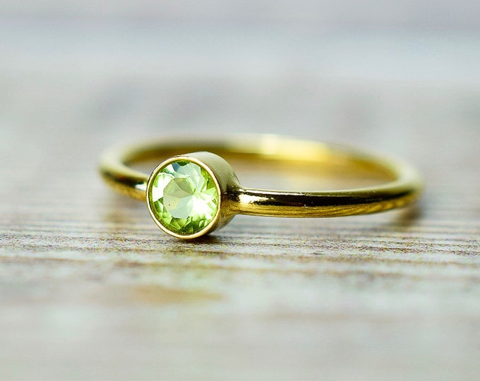 Featured listing image: Gold Peridot Ring