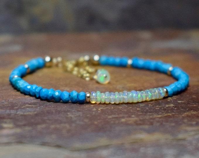 Featured listing image: Turquoise & Ethiopian Opal Bracelet