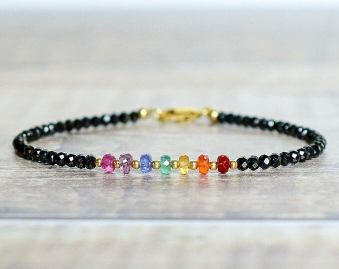 Featured listing image: Rainbow Gemstone Chakra Bracelet