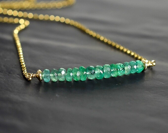 Featured listing image: Zambian Emerald Necklace