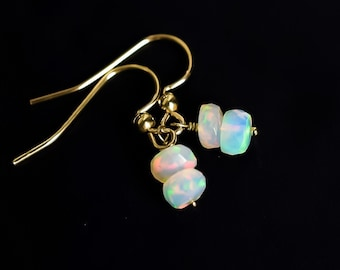 Ethiopian Fire Opal Drop Earrings