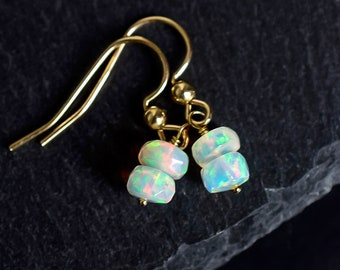 Ethiopian Fire Opal Drop Earrings