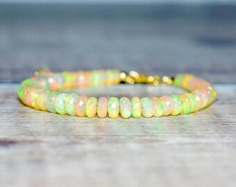 Beaded Opal Bracelet