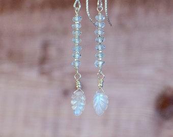 Moonstone & Topaz Dangle Earrings