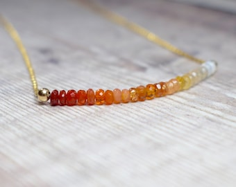 Ombre Fire Opal Necklace