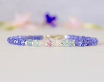 Tanzanite, Aquamarine & Sapphire Bracelet