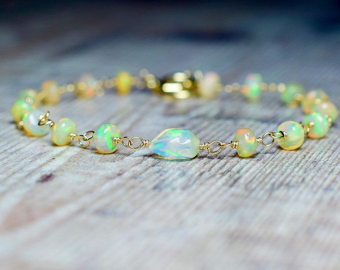Featured listing image: Beaded Opal Bracelet