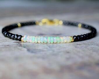 Spinel & Fire Opal Bracelet