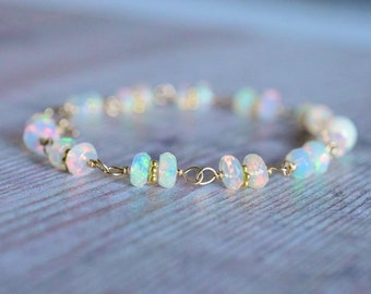 Wire Wrapped Fire Opal Bracelet
