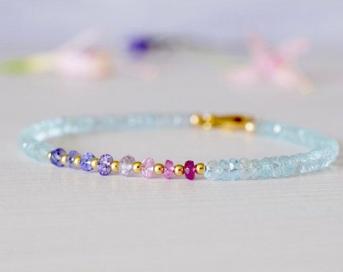 Featured listing image: Blue Topaz, Sapphire & Tanzanite Bracelet
