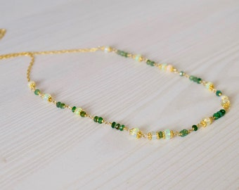 Emerald & Opal Necklace