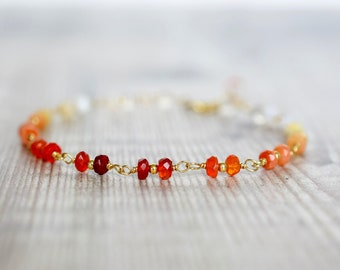 Mexican Fire Opal Beaded Bracelet