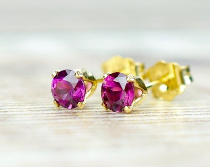 Featured listing image: Rhodolite Garnet Stud Earrings