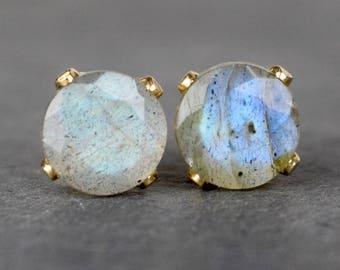 Labradorite & 14k Gold Filled Gemstone Earrings