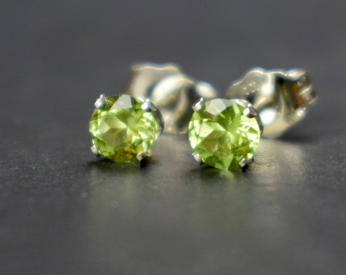 Featured listing image: Peridot & Sterling Silver Earrings