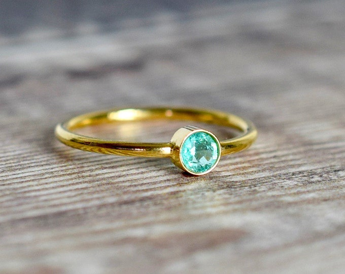 Featured listing image: Emerald Ring in 14k Gold Fill