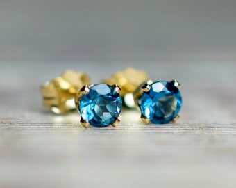 London Blue Topaz Stud Earrings