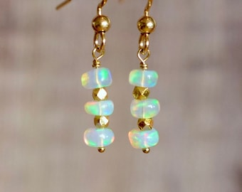 Opal & Gold Earrings