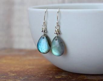 Blue Labradorite Drop Earrings