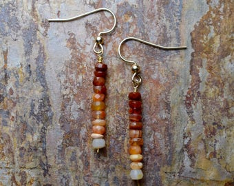 Mexican Fire Opal & 14k Gold Fill Dangle Earrings
