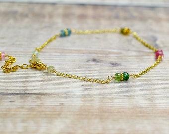 Wire Wrapped Tourmaline Bracelet