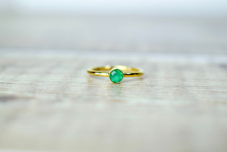 Onyx Gold Ring Boho Jewelry Handmade Green Onyx Ring Gemstone Ring Onyx Jewelry Mothers Day Gift Green Stone Ring