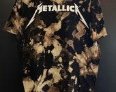 White Acid Washed Metallica