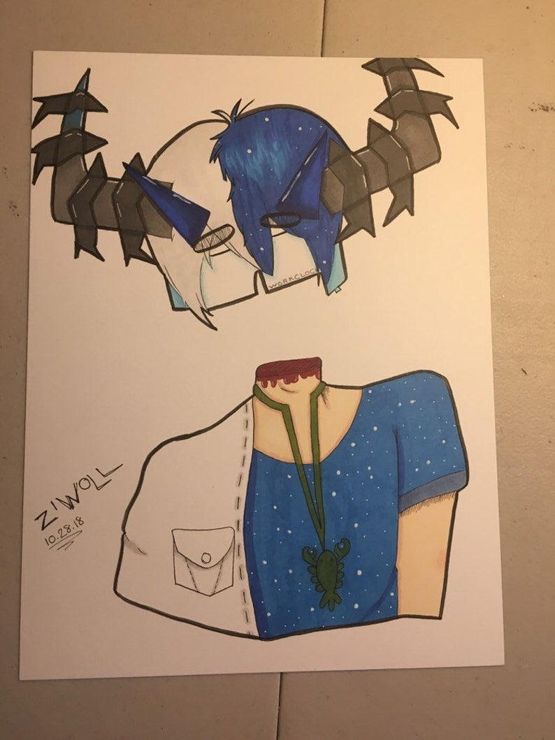 Roblox Traditional Art Commissions Copic Marker Illustration Etsy