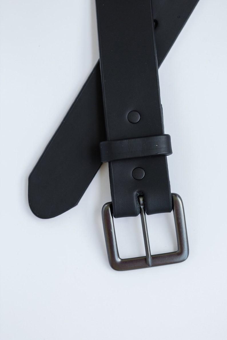 Mens Full Grain Black Belt #2300