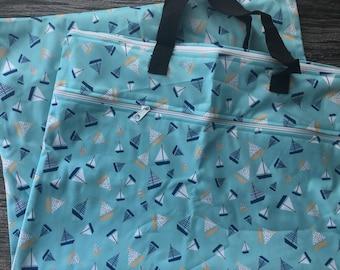 Large storage bag - sailboats