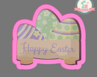 Easter Egg with Banner Cookie Cutter