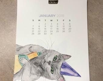 2018 Cat Art Calendar