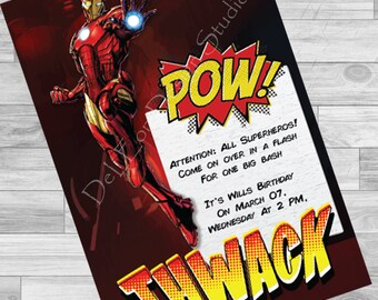Iron Man Birthday Invite
