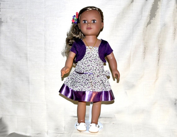 Lavender  Skirt with Ruffle Trim Fits 18 inch American Girl Dolls