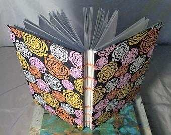 Floral Design Coptic Sketchbook or Journal