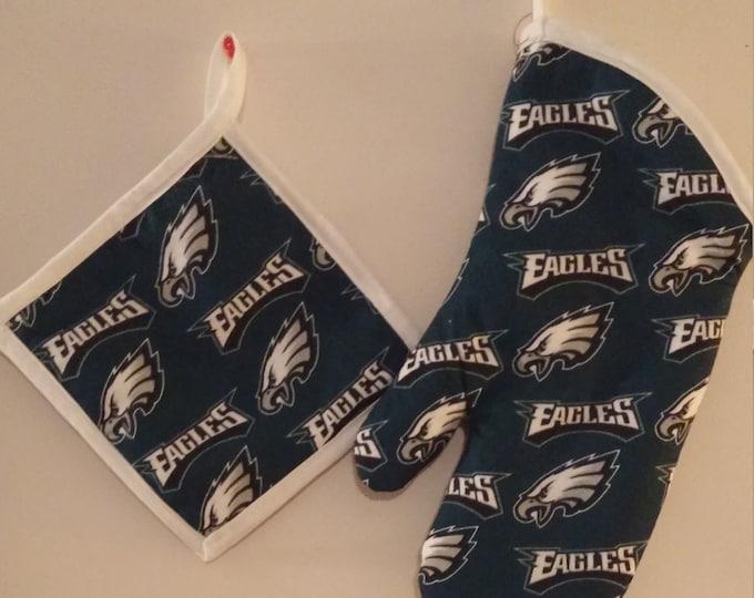Philadelphia Eagles Potholder and Oven Mitt Set